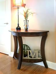 half round entry table hallway half table perfect for small walkways