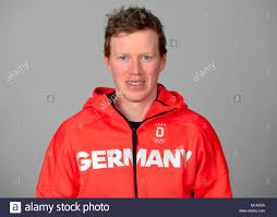Snowboarder Alexander Bergmann poses at a photocall during the ...