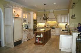 dark kitchen island chandelier mixed u shaped white pantry cabinet