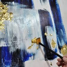 abstract living room art jennifer rizzo