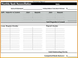 excel general ledger checking account reconciliation worksheet along with bank statement