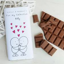 personalised chilli and bubble s valentine s chocolate