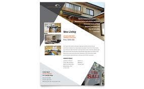 realtor flyers templates contemporary modern real estate flyer template design