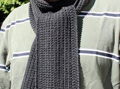 Free Mens Crochet Scarf Pattern Mesmerizing Just For Him Classic Ribbed Scarf Pattern Crochet Scarves And
