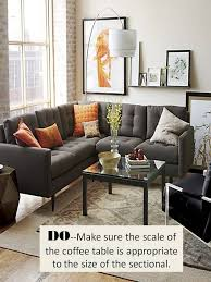 the best way to style a sectional sofa