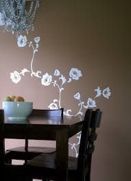 Beautiful Dining Room Decoration With Floral Wall Stencil Ideas Interior  Design - GiesenDesign