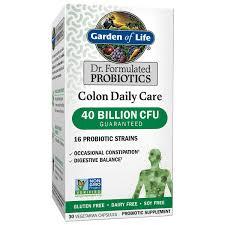 garden of life dr formulated colon daily probiotics 40 billion cfu 30 ct com
