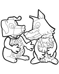 Kleurplaten Paradijs Kleurplaat Timme De Hond En Bor De Wolf