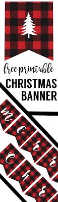 Merry Christmas Banner Print Free Printable Merry Christmas Banner Paper Trail Design