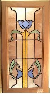 blue flower cabinet door