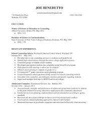 Resume Objective For Internship