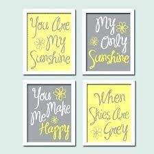 yellow and grey wall decor wall arts grey yellow wall art grey yellow wall art grey