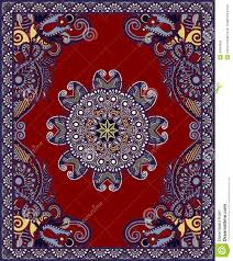 carpet design. Ukrainian Oriental Floral Ornamental Carpet Design. Cotton, Border. Design I