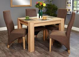 baumhaus aston oak dining set with 4 full back upholstered chairs baumhaus aston oak dining set