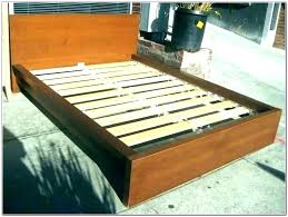 Queen Bed Frame Slats Fall Through Full Lowes Size How To Make A Box ...