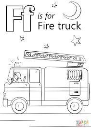 Small Picture Letter F is for Fire Truck coloring page Free Printable Coloring