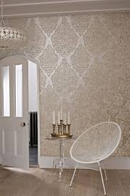 zones bedroom wallpaper: zellige by prestigious is a large scale hand printed effect damask wallpaper design