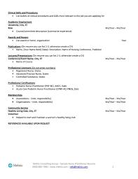 Sample Pediatric Nurse Resume Free Resume Example And Writing