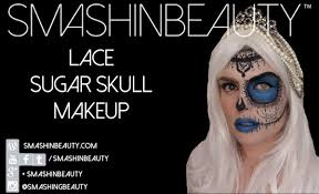 half face lace sugar skull makeup tutorial