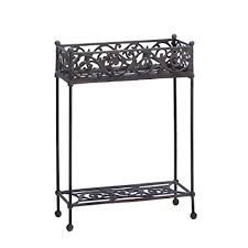 tiered iron plant stand. Cast Iron Rectangle Slender Two Tier Plant Stand Shelf In Tiered