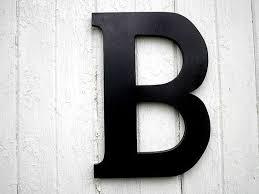 black letter b wall art