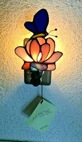 jj peng tiffany style lamps erfly stained glass night light