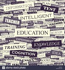 Education Seamless Pattern Concept Related Words In Tag Cloud