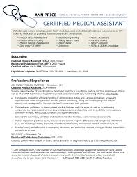 Resume Examples For Medical Assistants Examples Of Resumes