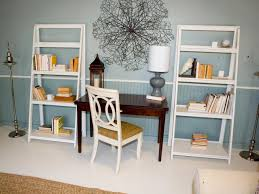 blue white office space. Pale Blue Office Area With White Bookcases Space W