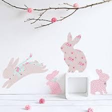 vintage fl rabbit wall stickers