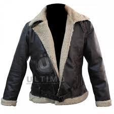 er style rocky balboa real leather faux shearling jacket rocky 4 balboa jacket
