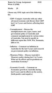 Australia Essay Economics Gross Domestic Product Monetary Policy Of