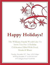 Holiday Templates For Word Free Lovely Free Printable Party Invitations Or Company Christmas
