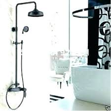 handheld shower head attaches to your tub spout for
