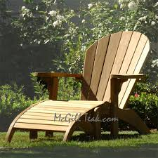 outdoor teak chairs. Teak Outdoor Chair - Adirondack With Ottoman Chairs
