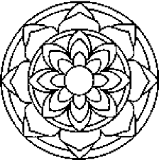 Small Picture Printable Adult Mandala Coloring Pages print mandala download or