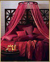 Red Moroccan bed - Oooo lah lah! The best of everything: red.
