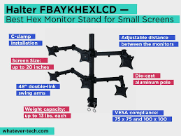 halter fbaykhexlcd review pros and cons check our best hex monitor stand for small