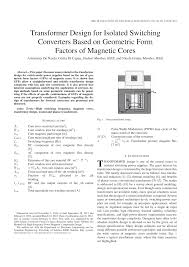 Pulse Transformer Design Pdf Pdf Transformer Design For Isolated Switching Converters