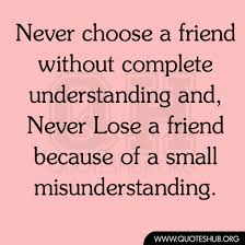 Quotes About Friendship Misunderstanding