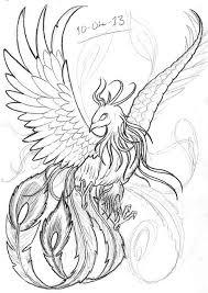 Drawings Of Phoenix Realistic Phoenix Bird Drawings Google Search Adult Coloring