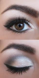 black white dress makeup tips eyes eyebrows of fashion trends