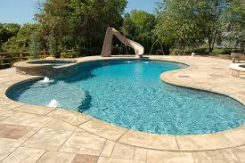 Rustic Stamped Concrete Patios, Pool Decks and Hardscapes rustic-pool