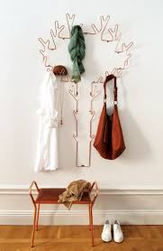 A swedish made hanger in copper called Tree Hanger and the stool Anyone.  Available in