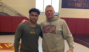 gable steveson with brock lesnar