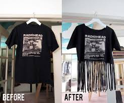 Make Your Shirt Diy Projects To Try Make Your Own Fringe T Shirt Pretty
