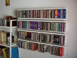 ikea lerberg cd dvd wall shelf white
