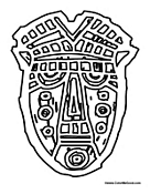 Small Picture African Mask Coloring Pages African Masks