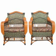 deco garden furniture. Art Deco Garden Furniture Luxury Pair Of French Rattan Lounge Chairs By Grange For