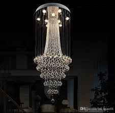 long crystal chandelier modern chandelier new hot luxury clear crystal lighting ceiling lamp fixtures for indoor dining room stairs paper chandelier